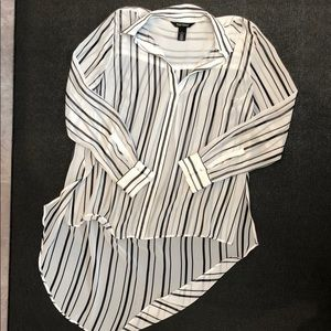 White House Black Market high low  blouse